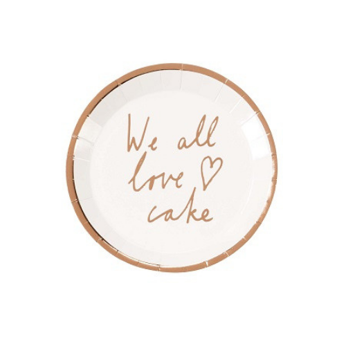 """We All Love Cake"" Plates"