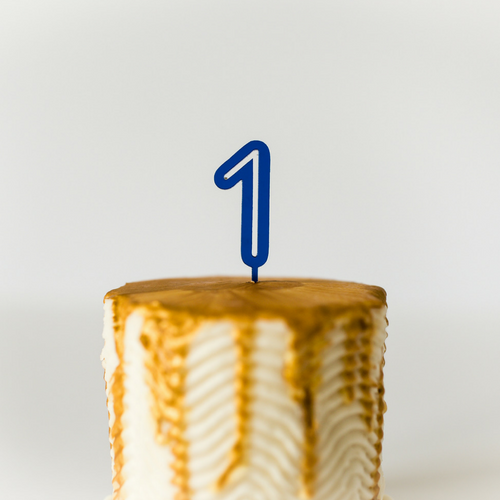 Number Cupcake Topper - Blue