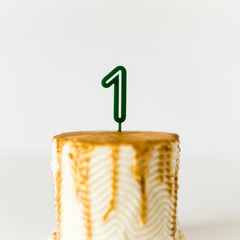Number Cake Topper - Green