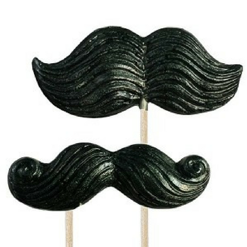 Regular and Curly Mustaches Specialty Lolli