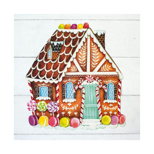 Gingerbread House Die-Cut Placemats