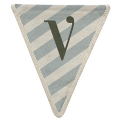 Fabric Bunting Letter V