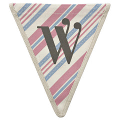 Fabric Bunting Letter W