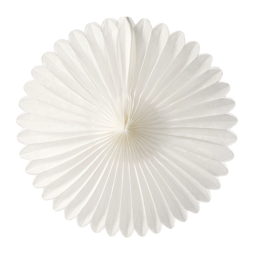 White Paper Fans, 5 Sizes
