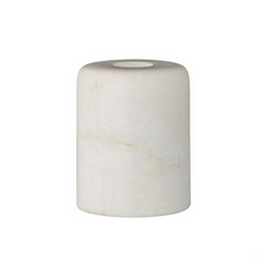 White Marble Taper Holder