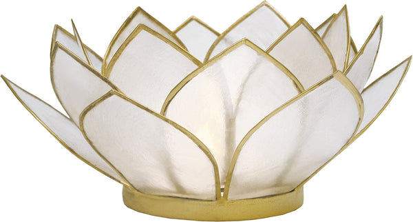 White Lotus Candle Holder