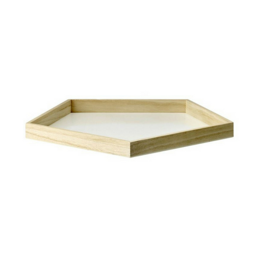 Wood Pentagon Serving Tray