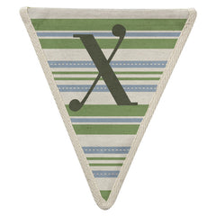 Fabric Bunting Letter X
