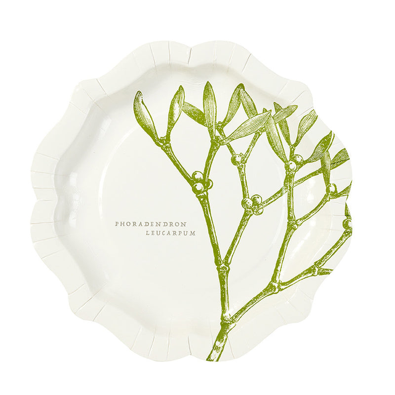Mistletoe & Holly Christmas Plates