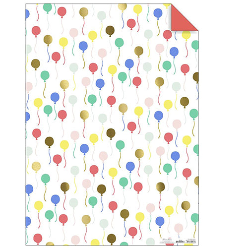 Rainbow colored Balloon Wrapping Paper Roll