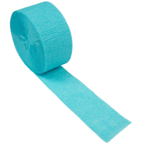 pacific blue crepe paper streamer
