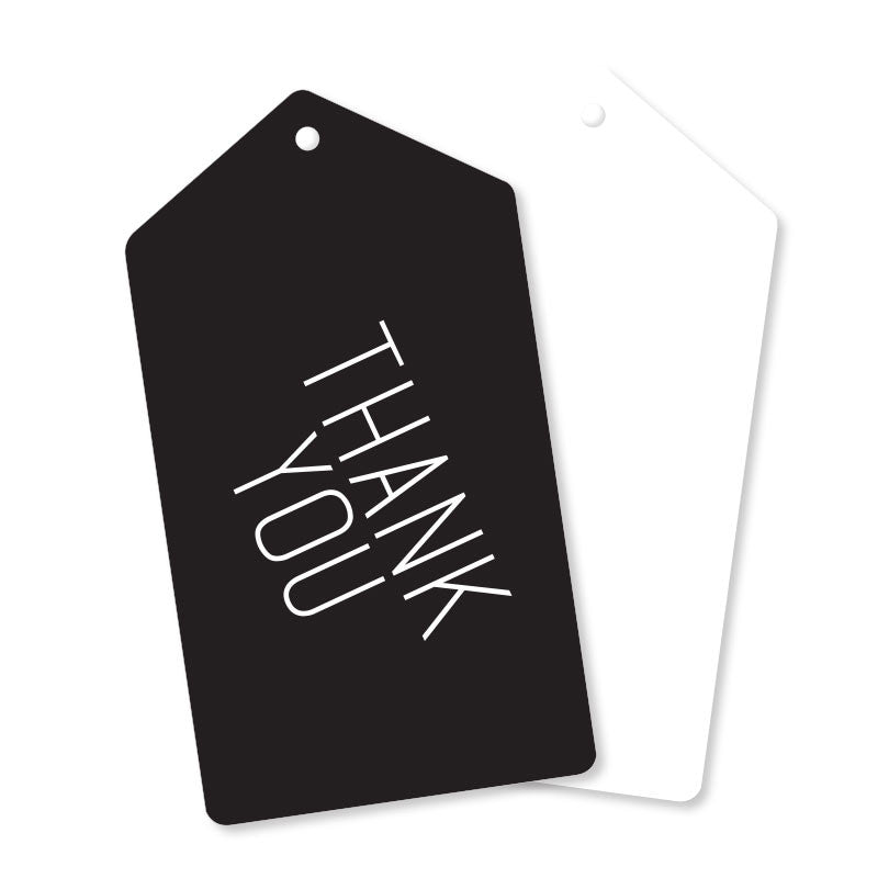 Black Thank You Tags