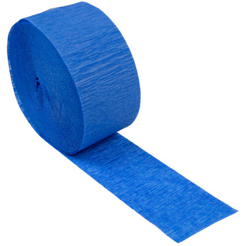 royal blue crepe paper streamer