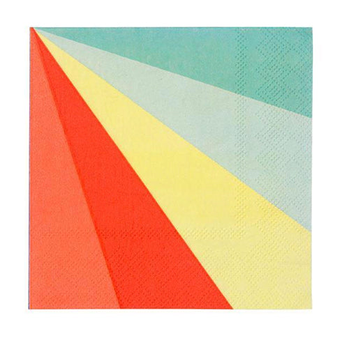Color Wheel diagonal stripe Napkins