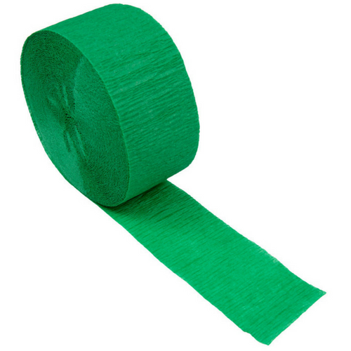emerald green crepe paper streamer