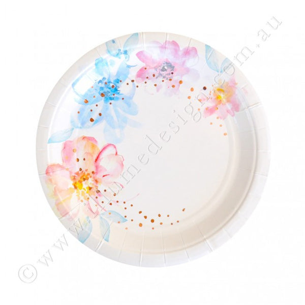 Floral and Rose Gold Plates