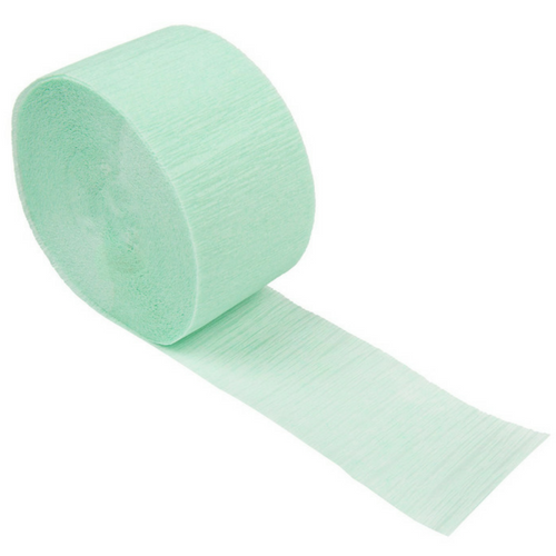 Mint Crepe Paper Streamer
