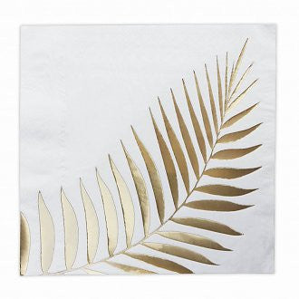 Tropical Gold Leaf Napkin