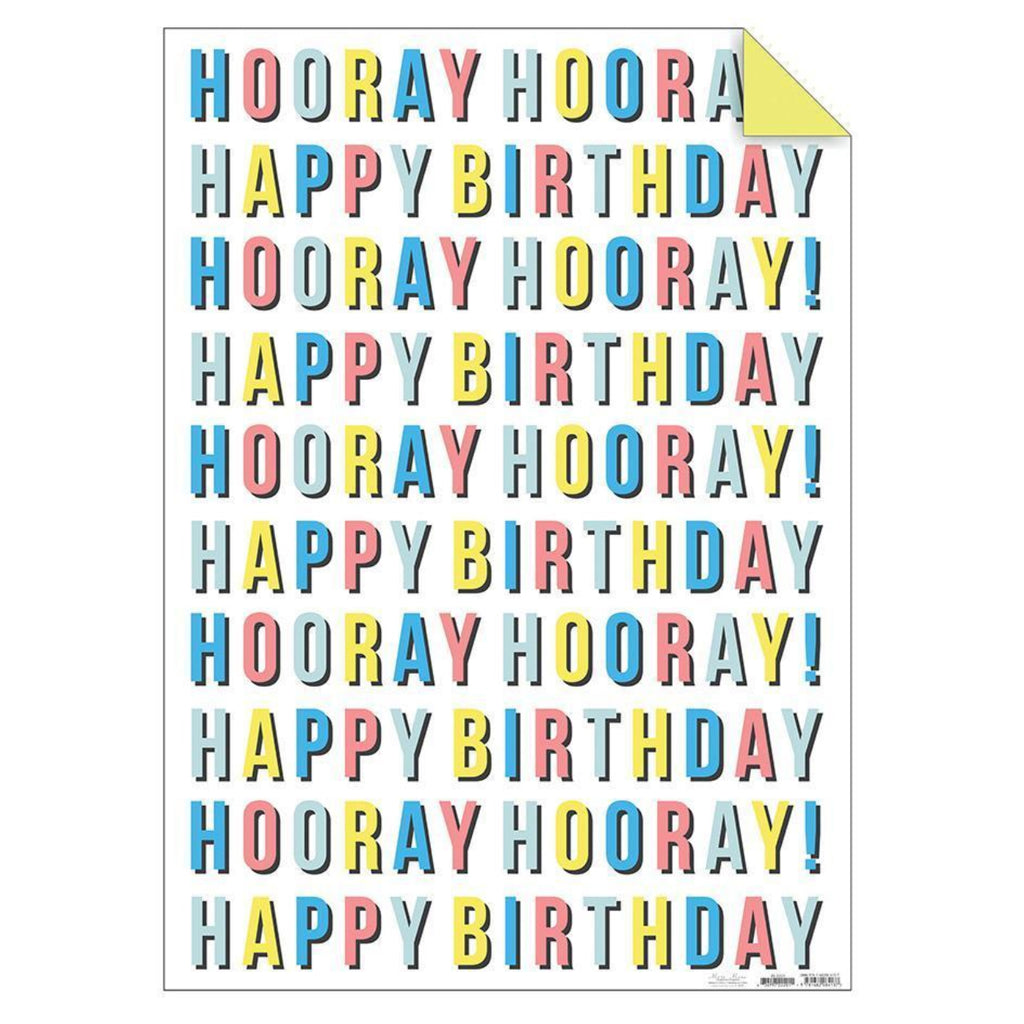 Gift wrap pack x 2 sheets /& 2 tags 50 x 70cm it/'s party time hooray dots wrap
