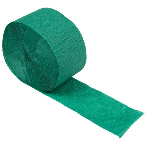 dark green crepe paper streamer
