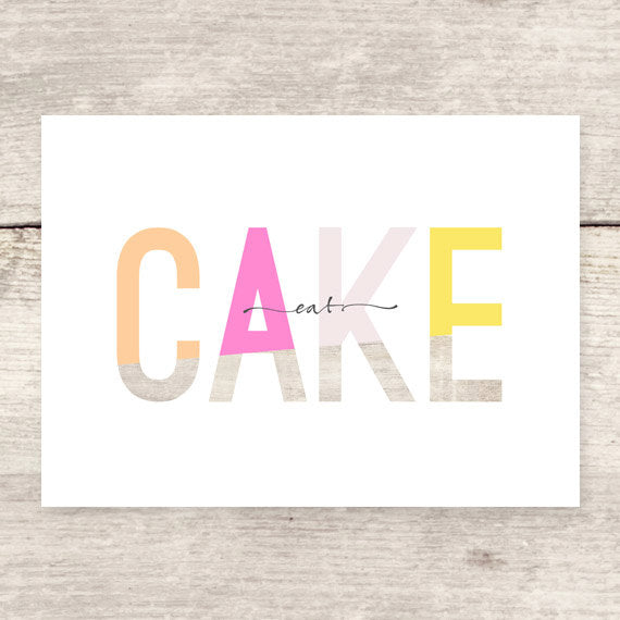 eat cake all occasions greeting card