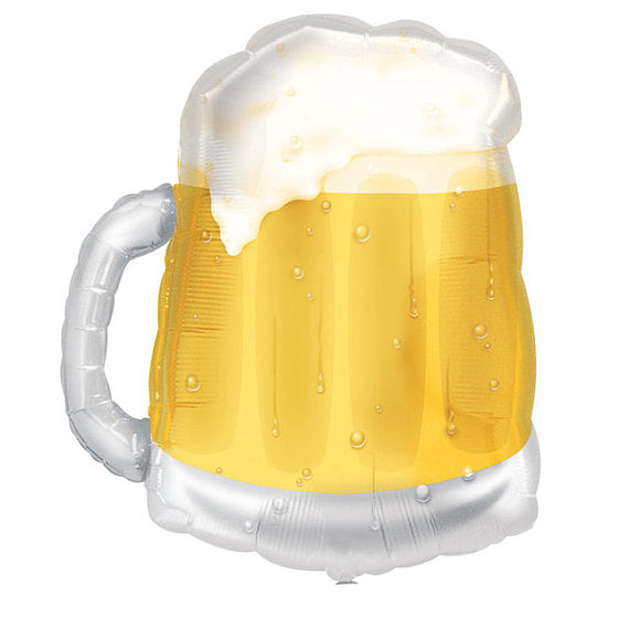 large transparent beer mug balloon