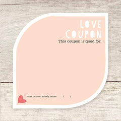love coupon card for anniversary or valentines day