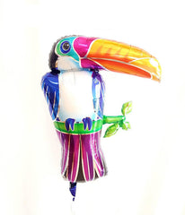 tropical toucan large mylar balloon