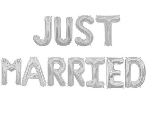 Just Married Balloon Kit