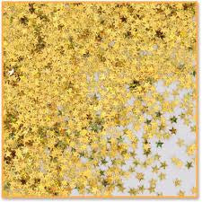 gold holographic star confetti