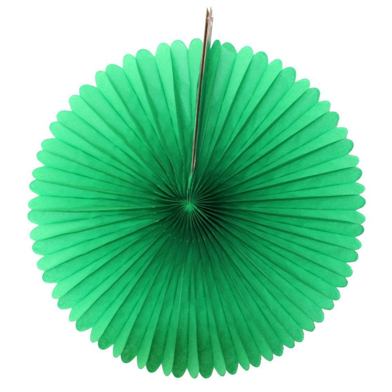Light Green Paper Fans, 5 Sizes
