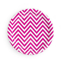 Chevron Hot Pink Plates
