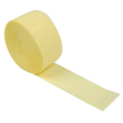 Mimosa crepe paper streamer