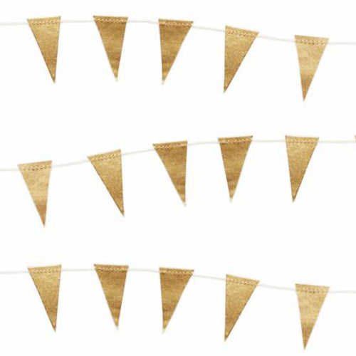 Mini Gold Flag Garland