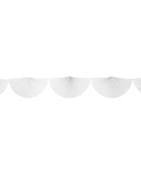 White Bunting Fan Garland