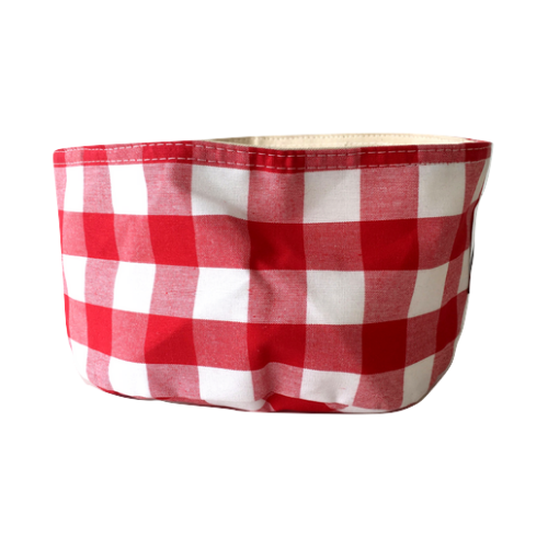 Gingham Red Basket