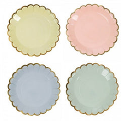 mini pastel dessert or appetizer plates
