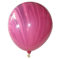 "Pink & Purple Marbled -11"" Balloons"