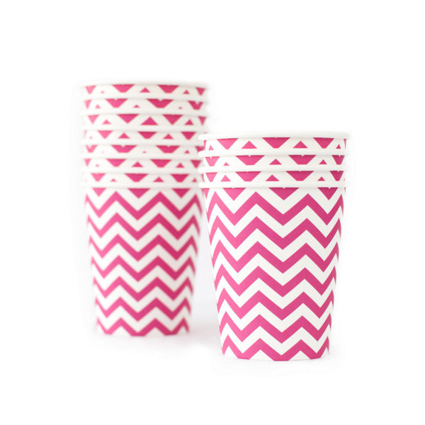 Chevron Hot Pink Cup