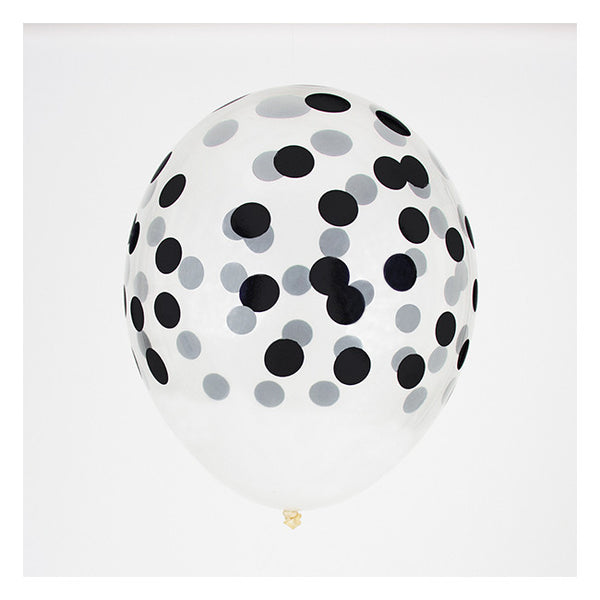 Black Confetti Patterned Balloon