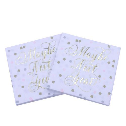 """Maybe Next Year"" Cocktail Napkins"