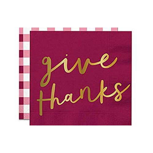 Give Thanks, Cocktail Napkins