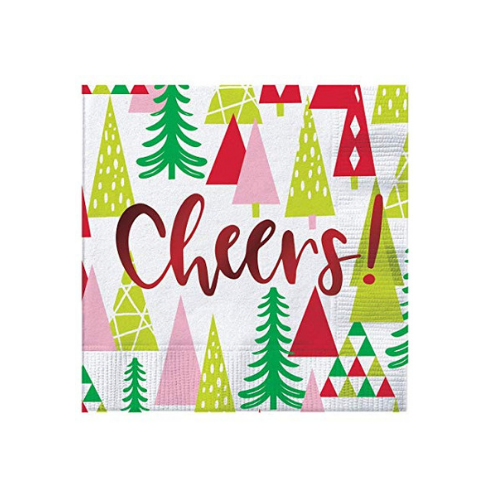 Cheers! Christmas Tree Napkins