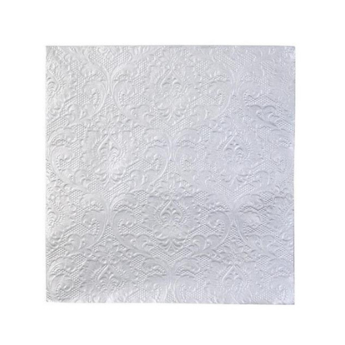 Silver Embossed Large Napkins