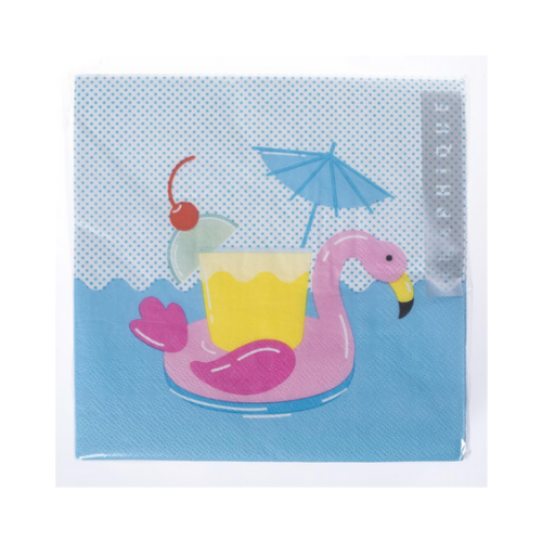 Flamingo Pool Float Napkins