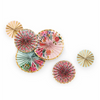 Multi-Colored Floral Fans