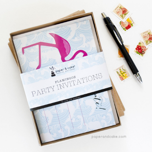 Flamingo Party Invitations