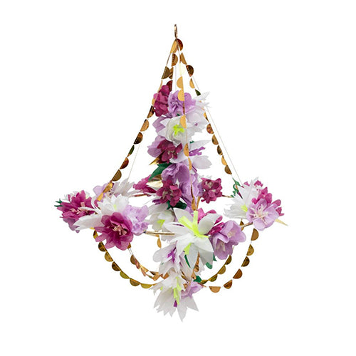 Lilac and White Blossom Chandelier