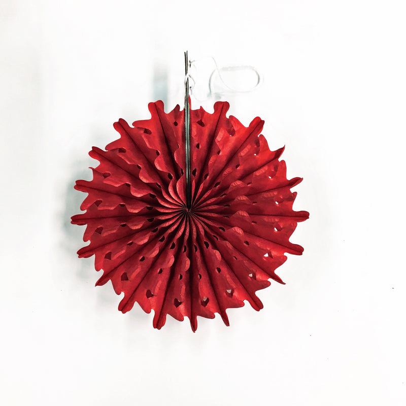 Mini Red Paper Fan