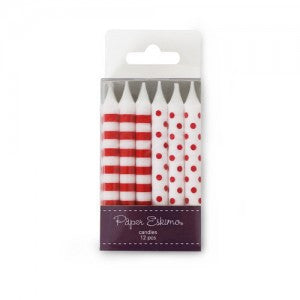 Red & White - Birthday Candles